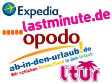 Klickzuschlag - Die Online-Reisebüros im Vergleich ©Expedia.com, lastminute.de, opodo, l'tur, ab-in-de-urlaub