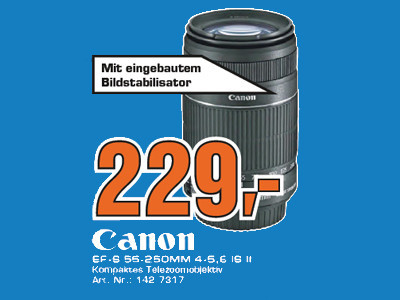 Canon EF-S 55-250mm f4.0-5.6 IS II © Saturn