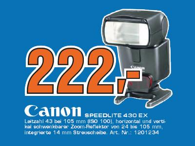 Canon Speedlite 430EX II ©Saturn