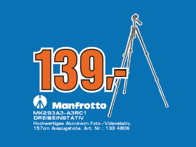 Manfrotto MK 293A3 + A3RC1 © Saturn