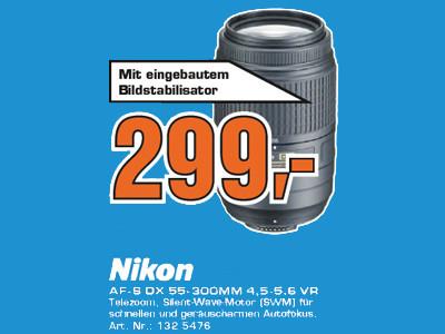 Nikon AF-S DX Nikkor 55-300mm f4.5-5.6 G ED VR ©Saturn