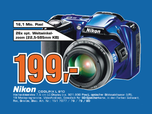 Nikon Coolpix L810 © Saturn