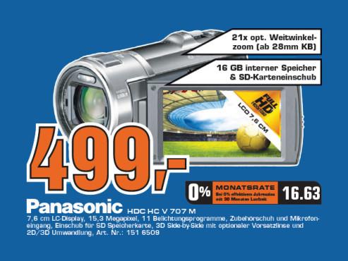 Panasonic HDC HC V 707 M ©Saturn
