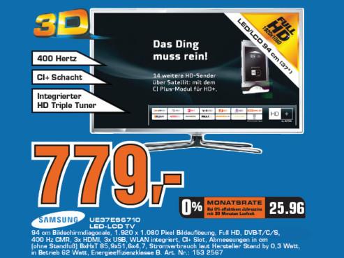 Samsung UE37ES6710 ©Saturn