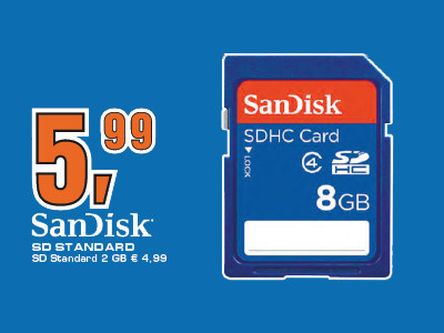 Sandisk 8GB SDHC Class 2 ©Saturn