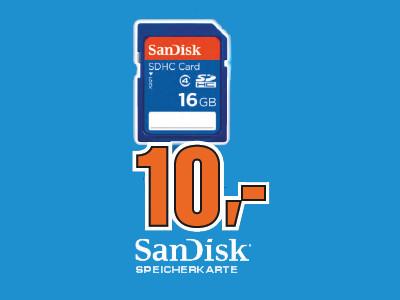 Sandisk SDHC 16GB Class 2 Card ©Saturn