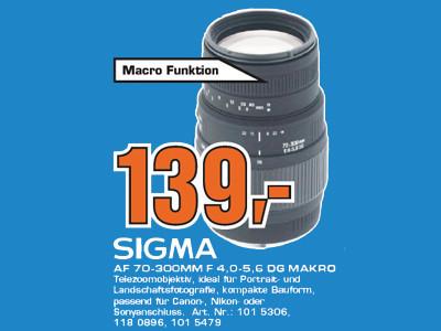 Sigma 70-300mm f4.0-5.6 DG Makro [Canon] ©Saturn