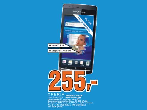 Sony-Ericsson Xperia Arc S ©Saturn