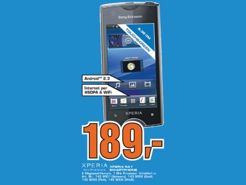 Sony-Ericsson Xperia Ray ©Saturn