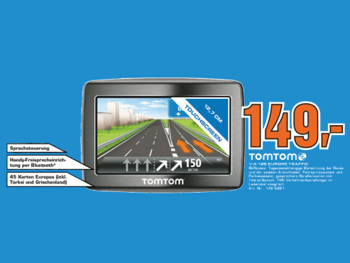 TomTom Via 125 Traffic v2 Europe © Saturn