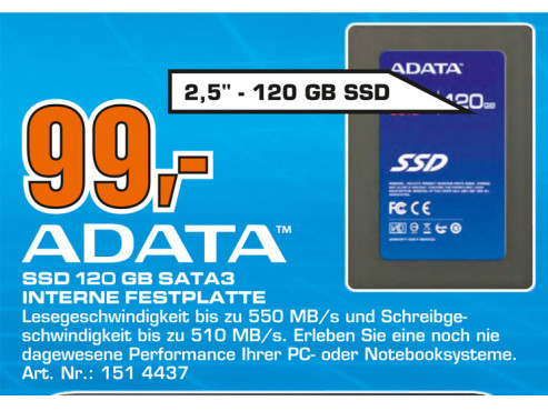 Adata S510 Series 120GB © Saturn