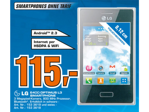 LG Optimus L3 © Saturn