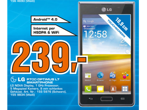 LG Optimus L7 © Saturn