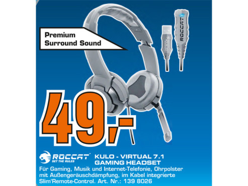 Roccat Kulo Virtual 7.1 USB Gaming Headset © Saturn