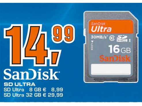 Sandisk Ultra SDHC 16GB Class 10 UHS-I Card 30MB/s ©Saturn