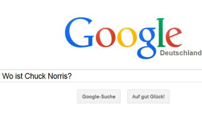 Google: Wo ist Chuck Norris? ©Google, COMPUTER BILD