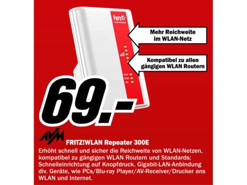 AVM Fritz!WLAN Repeater 300E ©Media Markt