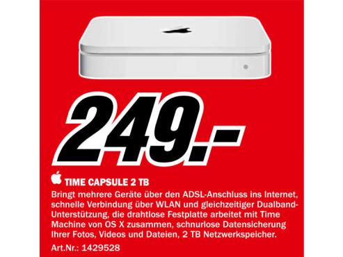 Apple Time Capsule 2TB ©Media Markt