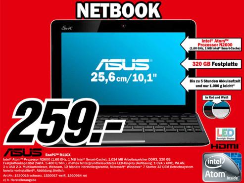 Asus Eee PC R11CX ©Media Markt