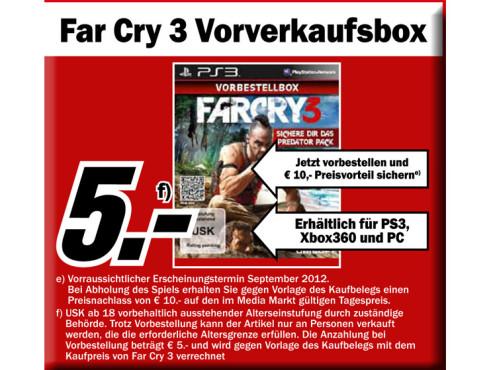 Far Cry 3 Vorverkaufsbox ©Media Markt