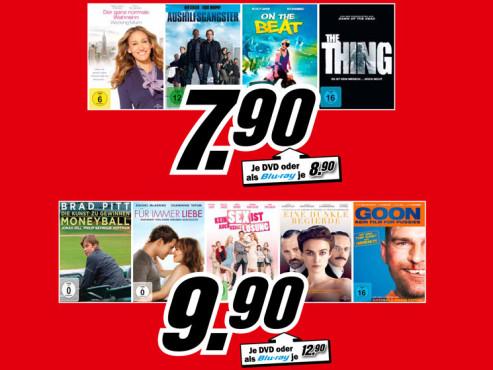 Filme auf DVD oder Blu-ray ©Media Markt