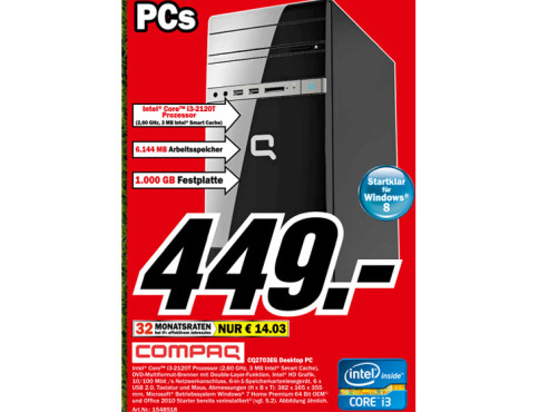 Hewlett-Packard HP Compaq CQ2703EG (H2R95EA) ©Media Markt