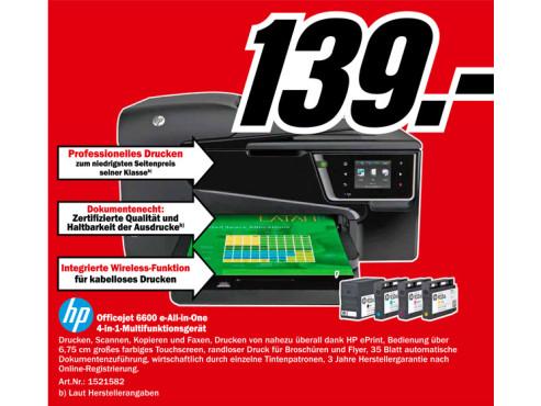 Hewlett-Packard HP Officejet 6600 ©Media Markt