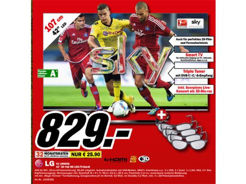 LG 42 LM660S ©Media Markt