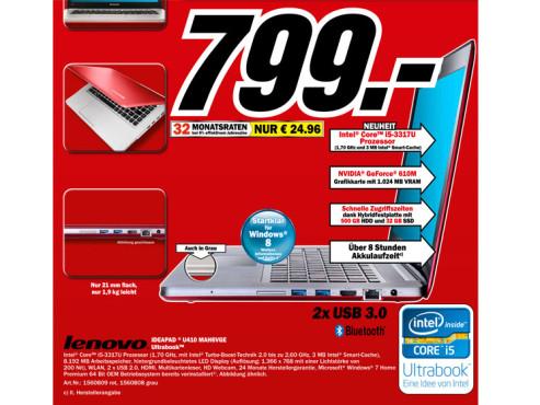 Lenovo IdeaPad U410 MAH6VGE ©Media Markt