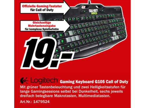 Logitech Gaming Keyboard G105 Call of Duty: Modern Warfare 3 DE ©Media Markt