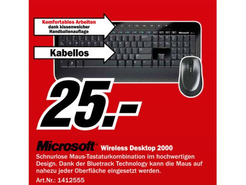 Microsoft Wireless Desktop 2000 DE ©Media Markt