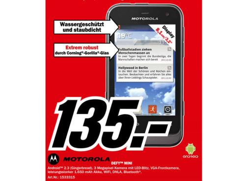 Motorola Defy Mini (XT320) ©Media Markt