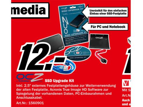 OCZ SSD Upgrade Kit ©Media Markt