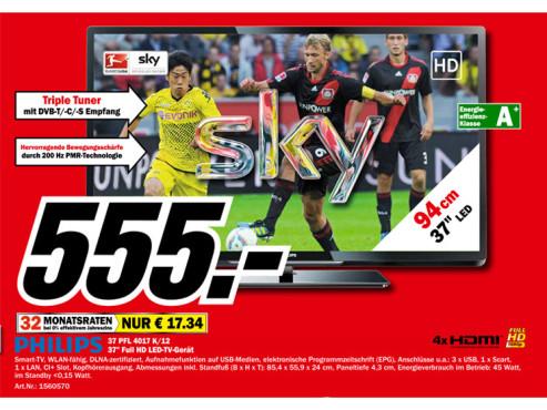 Philips 37PFL4017K/12 ©Media Markt