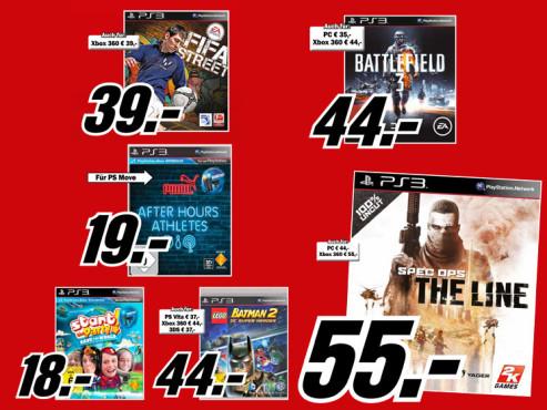 Playstation-3-Spiele ©Media Markt