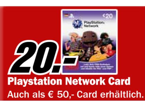 Playstation Network Card ©Media Markt