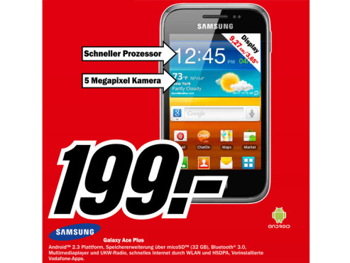 Samsung Galaxy Ace Plus (S7500) ©Media Markt