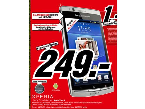 Sony-Ericsson Xperia Arc S ©Media Markt