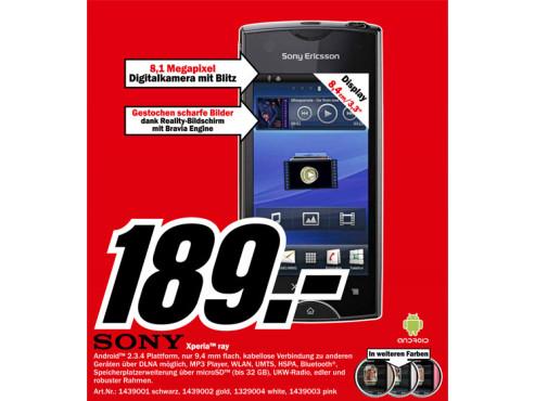 Sony-Ericsson Xperia Ray ©Media Markt