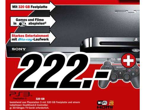 Sony Playstation 3 (PS3) slim 320GB ©Media Markt
