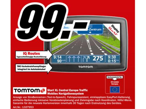 Tomtom Start XL Central Europe Traffic ©Media Markt