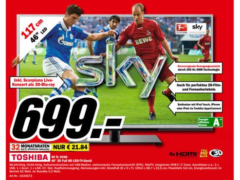 Toshiba 46TL933G ©Media Markt