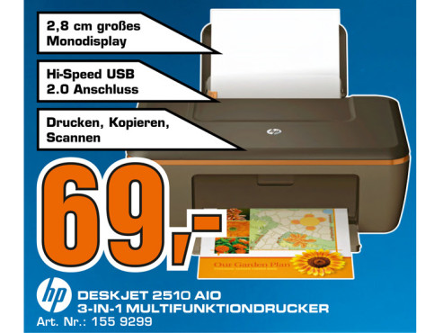 Hewlett-Packard HP DeskJet 2510 ©Saturn