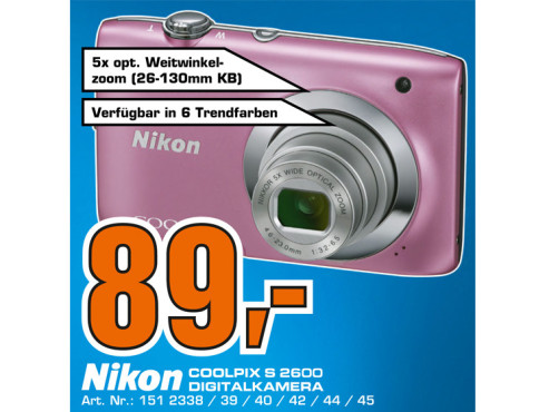Nikon COOLPIX S2600 © Saturn