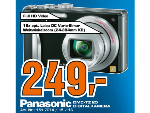 Panasonic Lumix DMC-TZ25 © Saturn