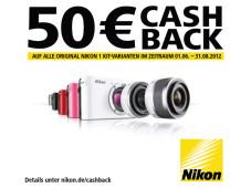 Cashback-Aktion: Bis zum 31. August 2012 gibt�s beim Kauf einer Nikon 1 Geld zur�ck. ©Amazon