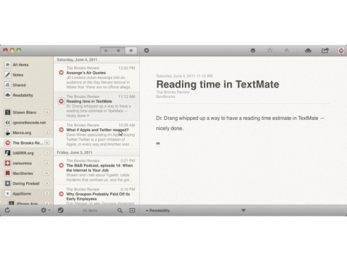 Screenshot Reeder for Mac OS X © COMPUTER BILD