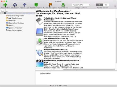 Screenshot 1 - iFunBox (Mac)