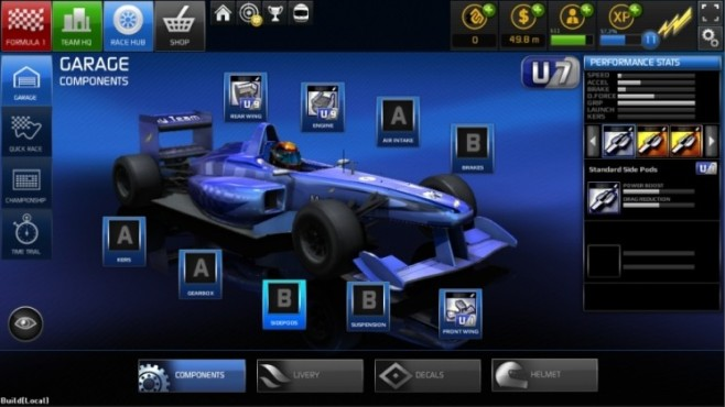 Browserspiel F1 Online – The Game: Komponenten © Codemasters