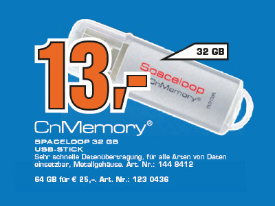 CnMemory Spaceloop 32 GB © Saturn